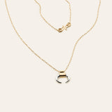 Mini moon and star necklace - gold plated