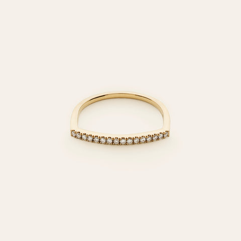 Punk eternity ring with diamonds - 18k gold