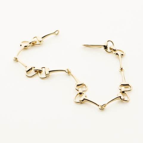 Horse bite bracelet - gold plated