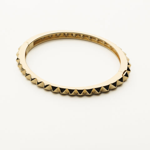 Stud bangle - gold plated