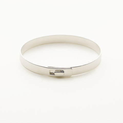 Click bracelet with silver square lock - silver