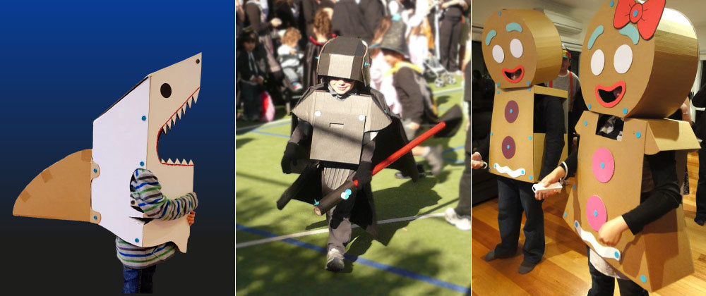 See more cardboard Halloween costume ideas from Makedo!