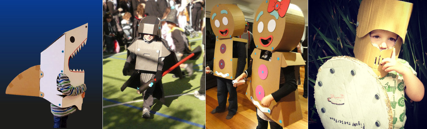 How scary will your cardboard Halloween be?