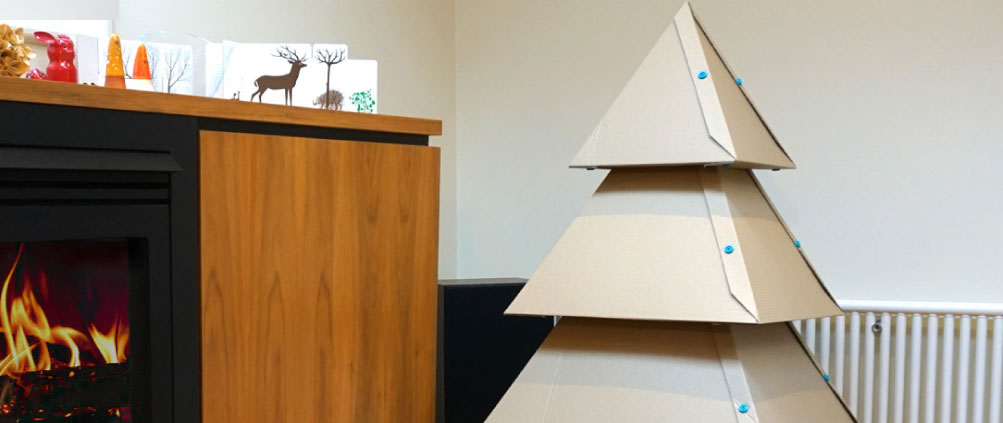 How to make a Makedo Cardboard Christmas Tree