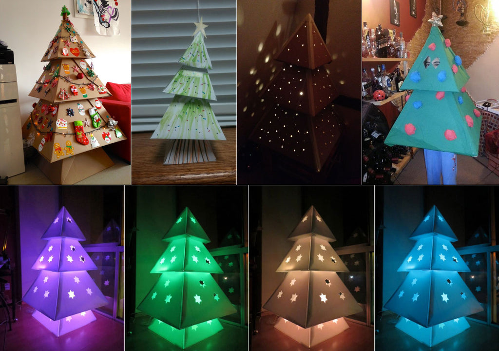 makedo diy cardboard christmas tree customizations