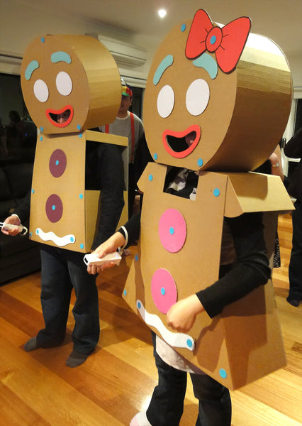 Makedo DIY Gingerbread Man cardboard costume