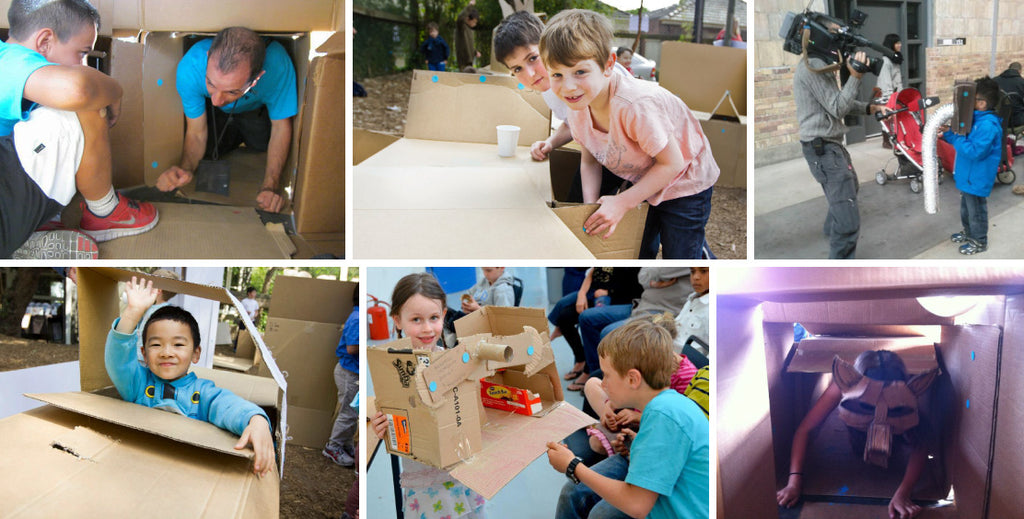 global cardboard challenge cardboard maze with Makedo