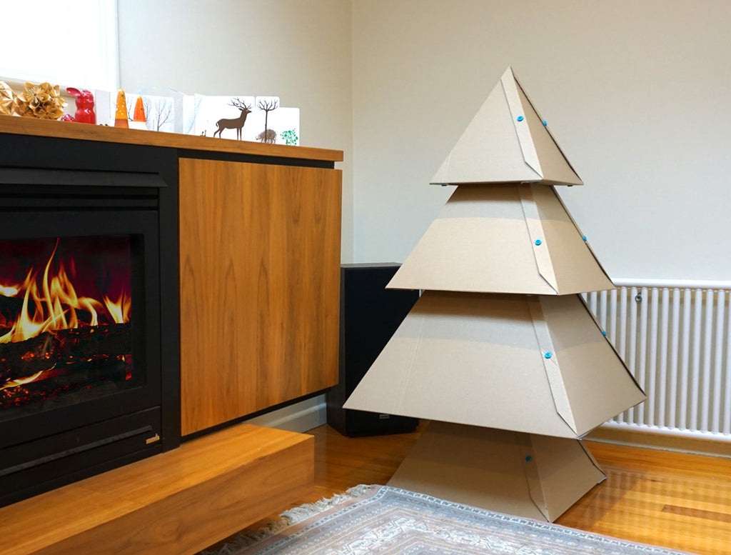Cardboard Christmas Tree.How To Make A Cardboard Christmas Tree Makedo Cardboard
