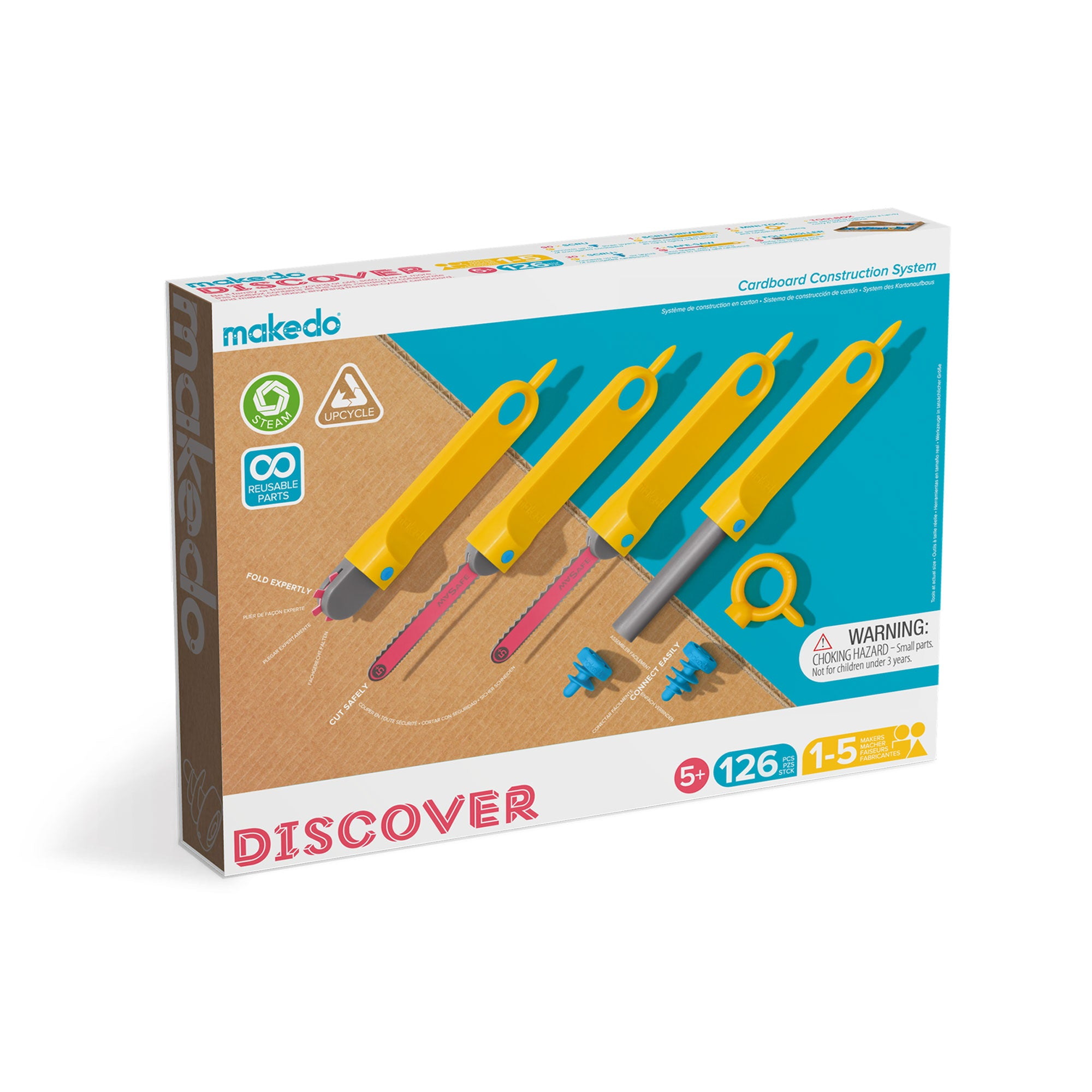 Makedo DISCOVER - the ultimate cardboard construction toolkit