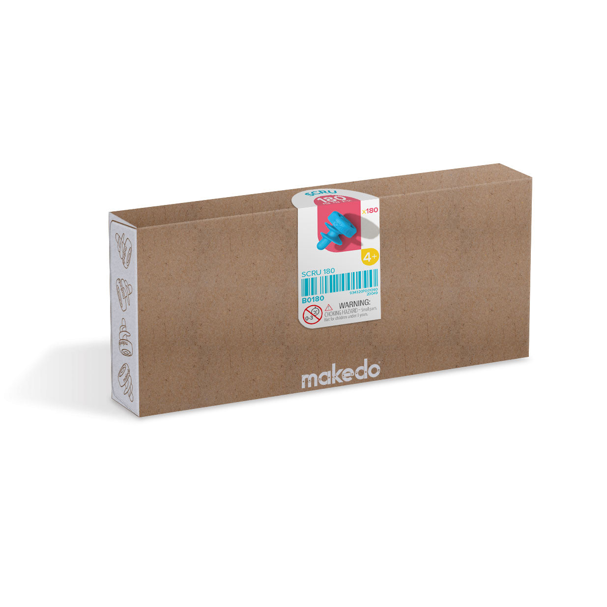 Makedo cardboard construction system - SCRU 180 piece kit.