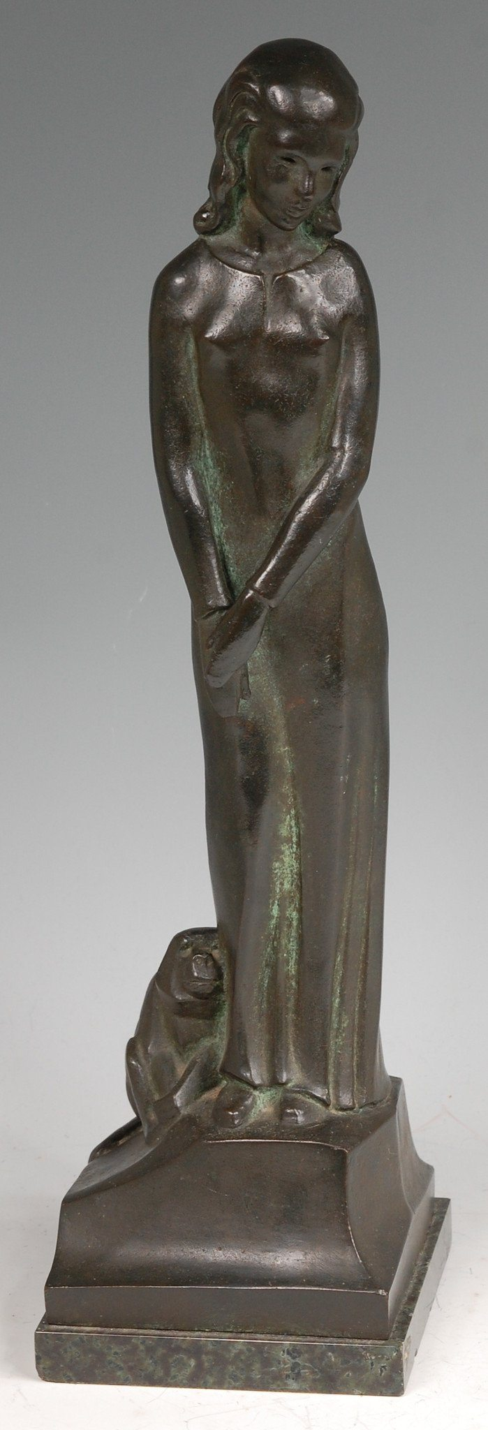 Standing Girl with Crouching Monkey