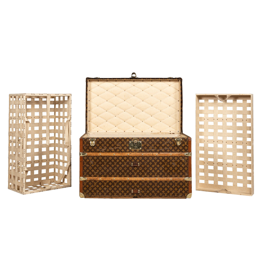 A courier trunk by Louis Vuitton