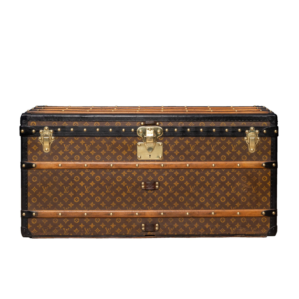 A Louis Vuitton courier trunk in monogrammed canvas