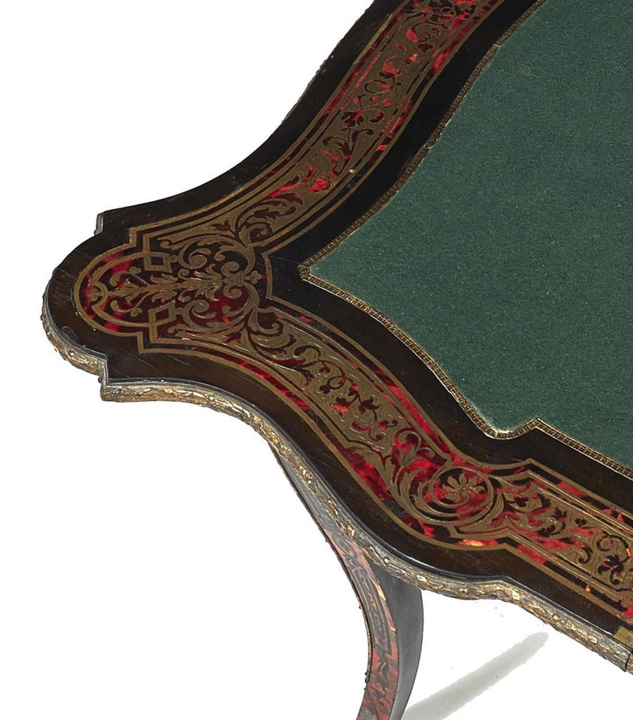 A Napoleon III ebonised, Tortoiseshell Card Table, Circa 1870 - A Modern Grand Tour