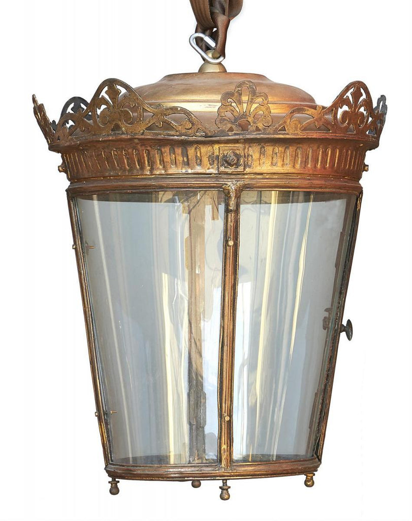 A Bronzed Metal and Glazed Circular Hall Lantern - A Modern Grand Tour