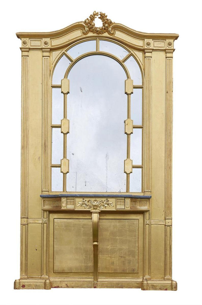 Large 19th Century Gold Giltwood Hall Stand
