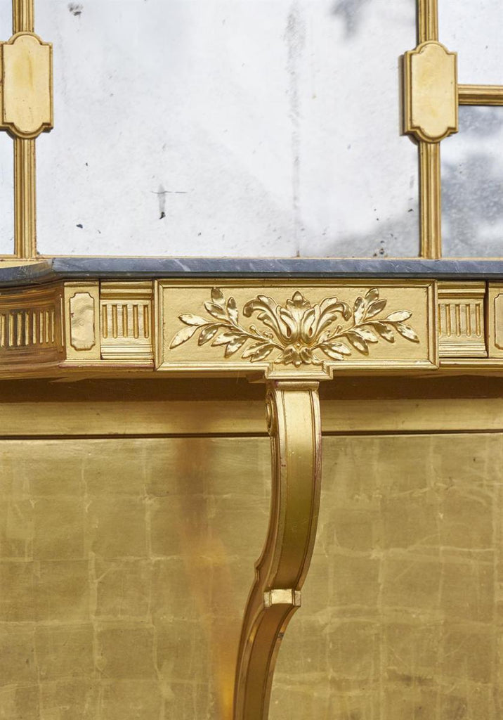 Large 19th Century Gold Giltwood Hall Stand - A Modern Grand Tour