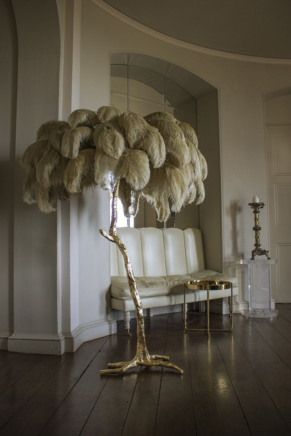 The Ostrich Feather Lamp Old Gold