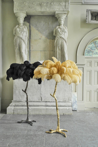 The Ostrich Feather Lamp Bronze Black