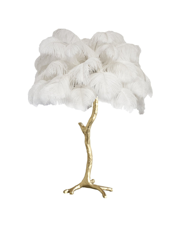 The Feather Metal Table Lamp - A Modern Grand Tour
