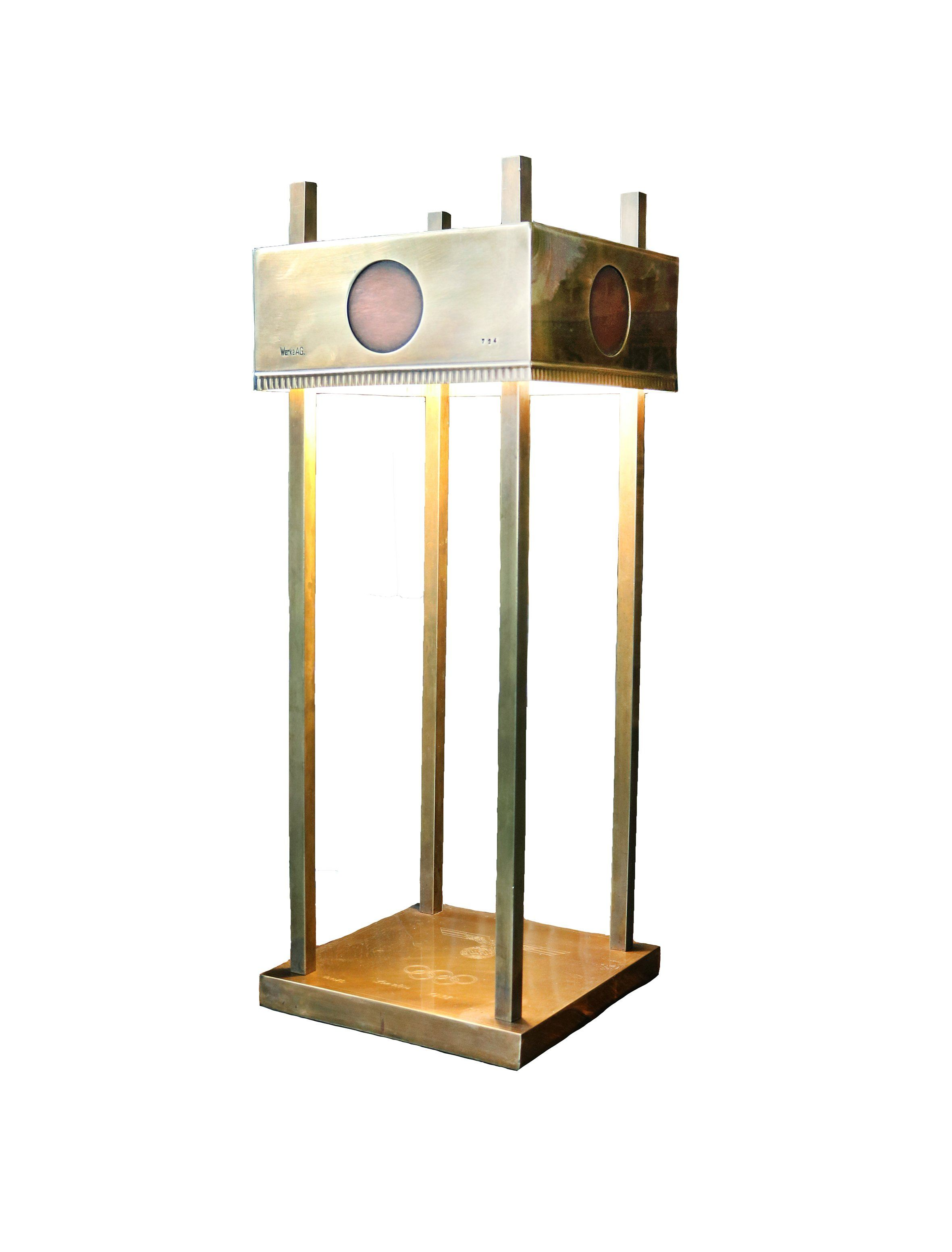 1936 Olympics Brass Table Lamp - A Modern Grand Tour