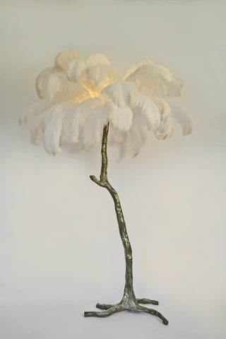 The Ostrich Feather Lamp Brass