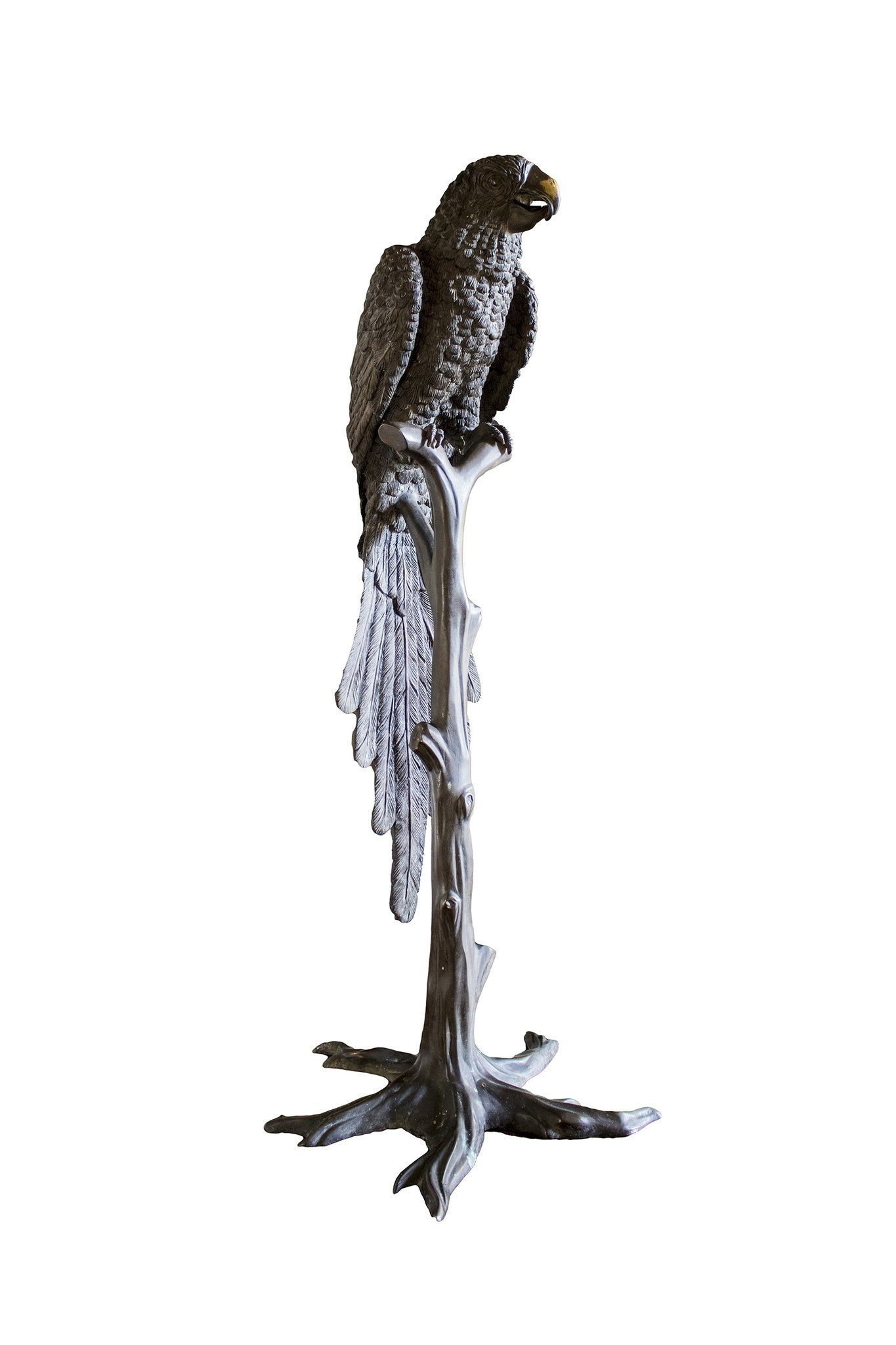 Monumental Vintage Bronze Parrot Figure - A Modern Grand Tour