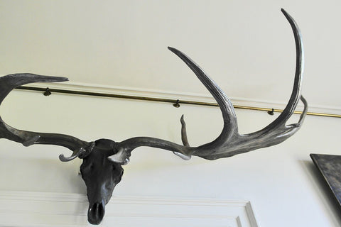 Bronzed Elk Horns by James Perkins Studio