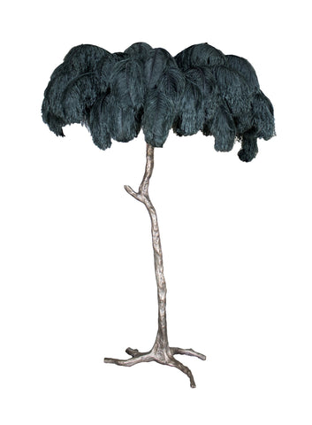 The Ostrich Feather Lamp Bronze Green