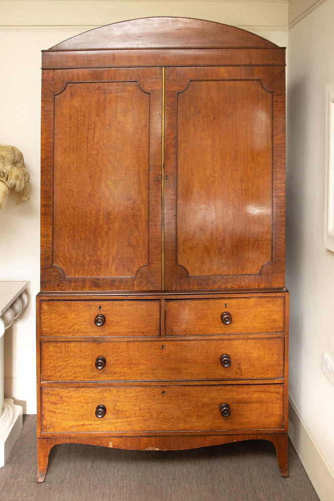 A Victorian Mahogany Linen Press