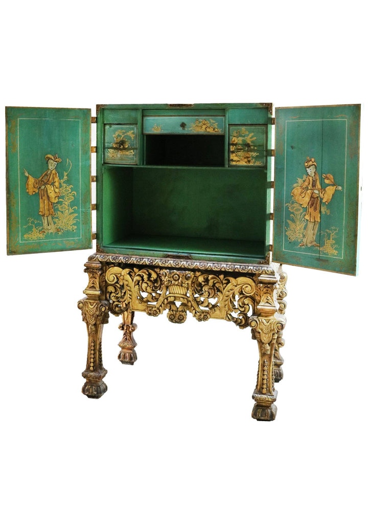 Early 20th Century Ornate  Chinese Coromandel Cabinet on Stand - A Modern Grand Tour