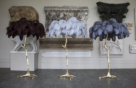 NEW - The Ostrich Feather Lamp Cloud Grey