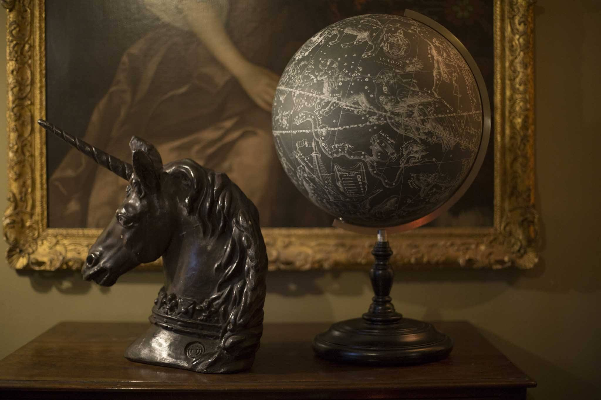 Black plaster Aynhoe unicorn - A Modern Grand Tour