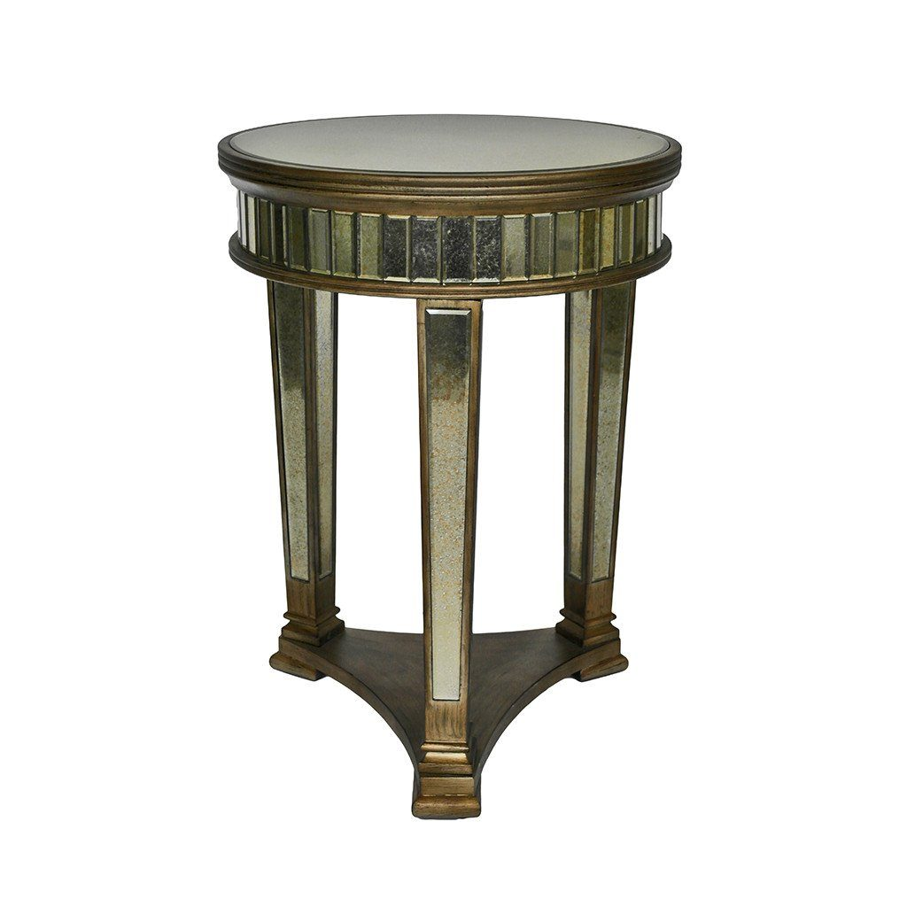 Peruzzi - Mirrored pedestal round table