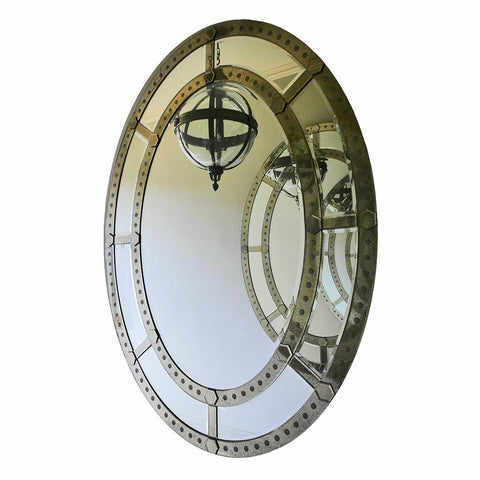 Monumental Venetian Oval Mirror
