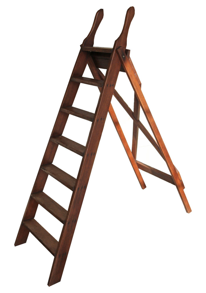 Teak Library Step Ladder - A Modern Grand Tour