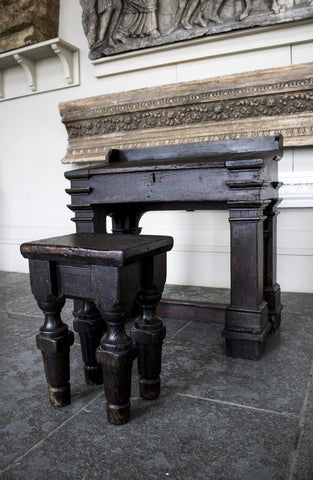 Antique Writing Slope and Stool - A Modern Grand Tour