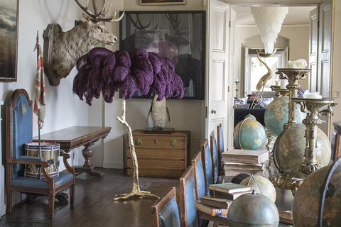 The Ostrich Feather Lamp Grape