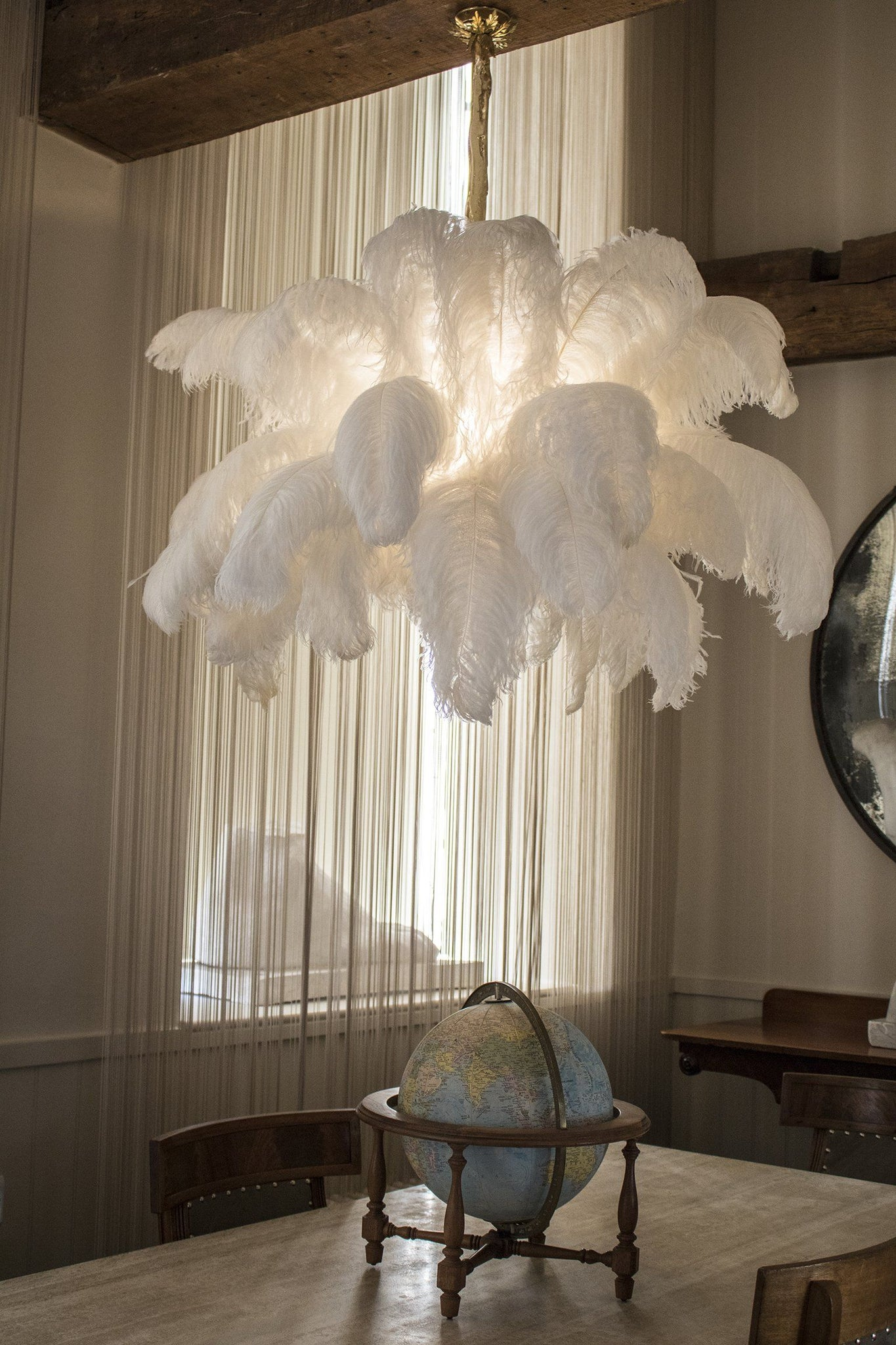 The Feather Chandelier