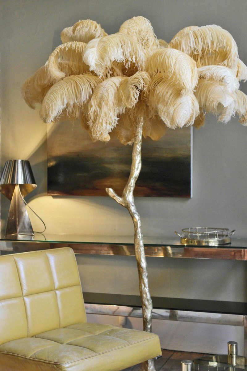 The Ostrich Feather Lamp Natural A Modern Grand Tour