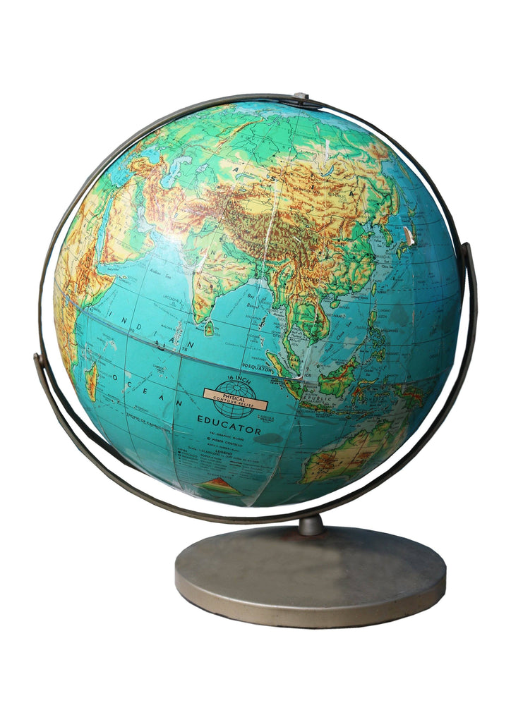 Vintage Geographical Globe - A Modern Grand Tour