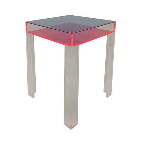 Neon Equinox Table - Blue/Pink by Dio Davies