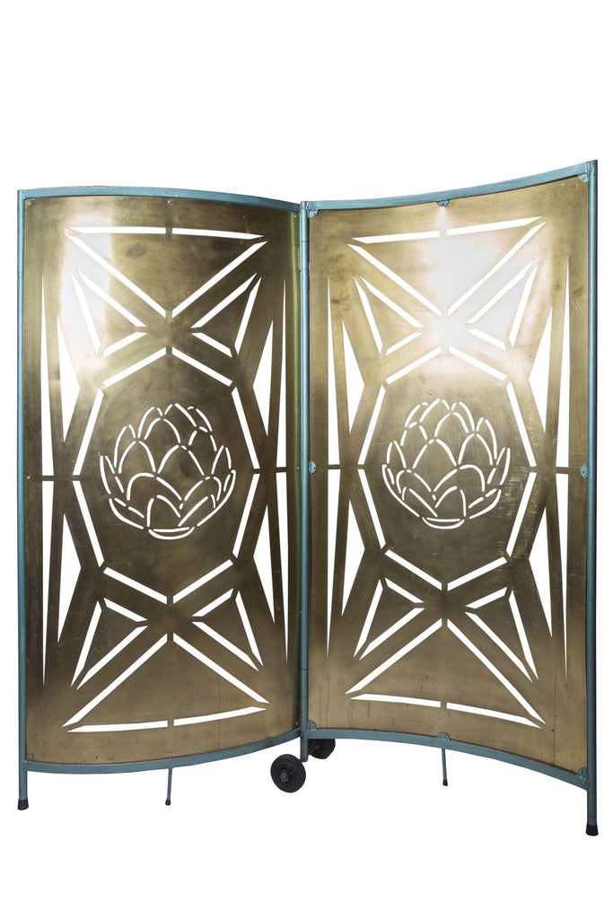 Pierced Brass Room Divider - A Modern Grand Tour