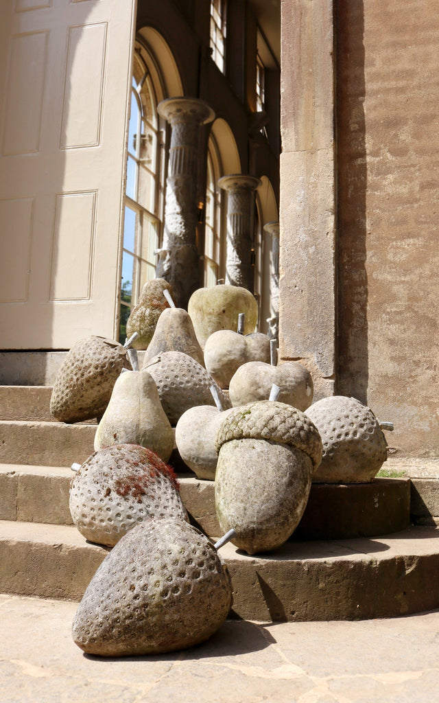 Pair of Stone Strawberries - A Modern Grand Tour