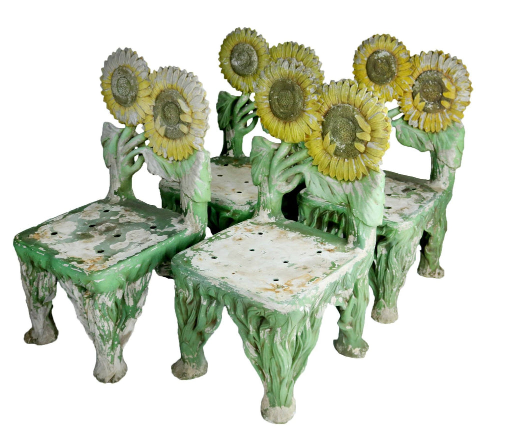 Set of Four Late 20th Century Sunflower Chairs - A Modern Grand Tour
