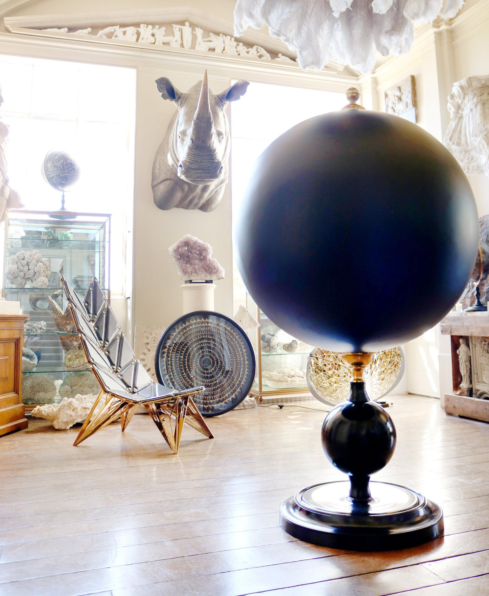 Large Celestial Globe with Brass Meridian