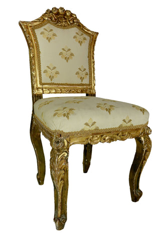 Set of 4 Giltwood Italian Chairs