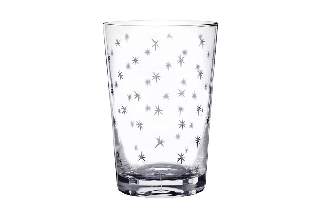 A Set of Six Star Crystal Tumbler Glasses - A Modern Grand Tour