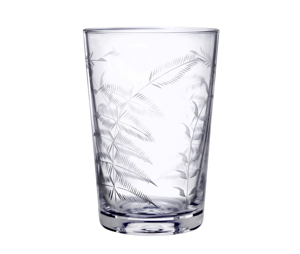 A Set of Six Fern Crystal Tumbler Glasses - A Modern Grand Tour