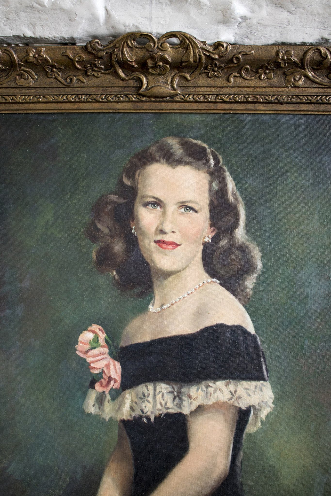 Mid Century Portrait of a Lady - Oil on Canvas